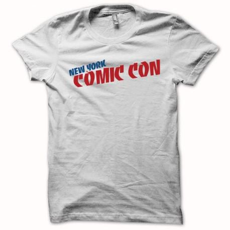 Tee shirt comic con new york blanc