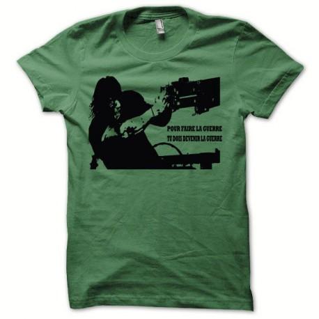 Tee shirt Rambo la guerre noir/vert bouteille