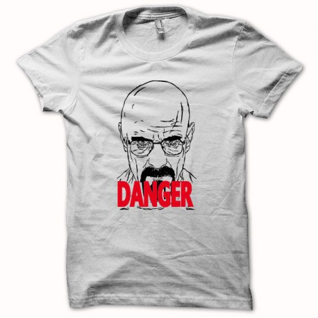Tee shirt Breaking bad danger Heisenberg blanc