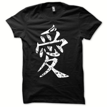 Tee shirt Naruto symbole blanc/noir