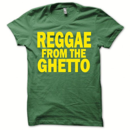 Tee shirt Rasta from the ghetto jaune/vert bouteille