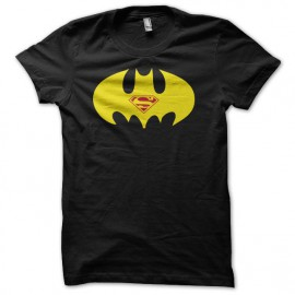 Tee shirt Batman vs superman parodie humoristique jaune/noir