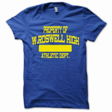 Tee shirt Roswell high school athletic department jaunebleu