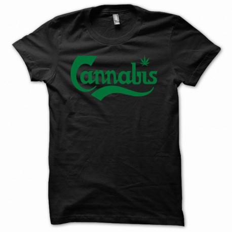 Tee shirt cannabis canabis vert/noir