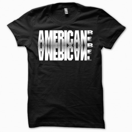 Tee shirt American rebel noir