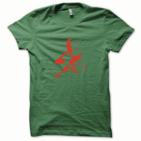 Tee shirt Cobra rouge/vert bouteille