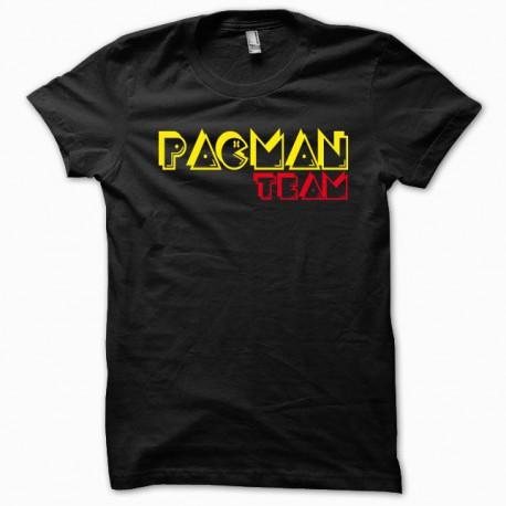 Tee shirt pacman pac man team jaune/noir
