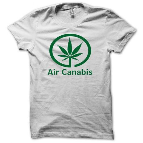 Tee shirt air canabis parodie air canada vert/blanc