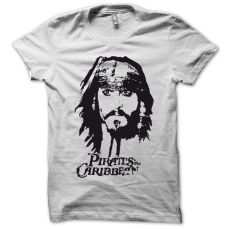 Tee shirt Pirates des Caraïbes jack sparrow blanc