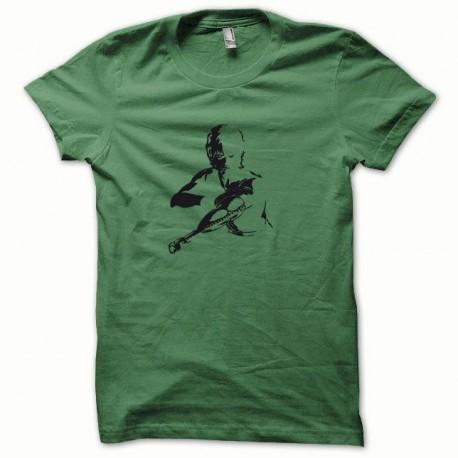 Tee shirt Cobra noir/vert bouteille