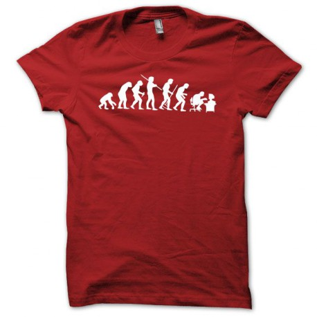 Tee shirt Evolution blanc/rouge