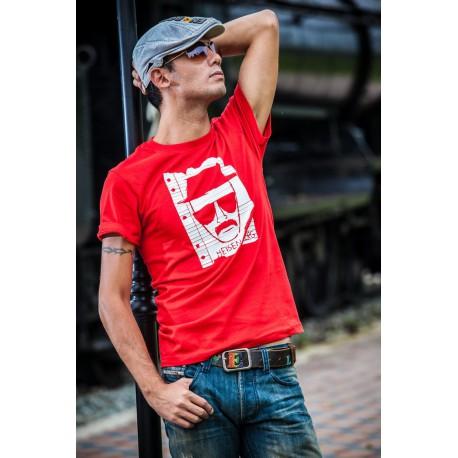 Tee shirt Breaking bad Heisenberg blanc/rouge