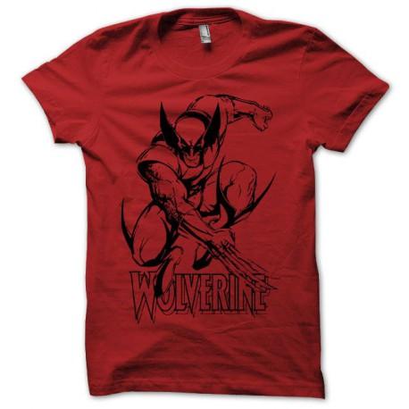 Tee shirt Wolverine noir/rouge
