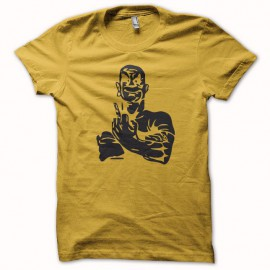 T-shirt mister clean Fuck off yellow