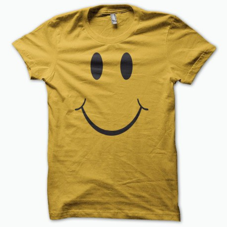 Tee shirt smiley acid house classique jaune/noir