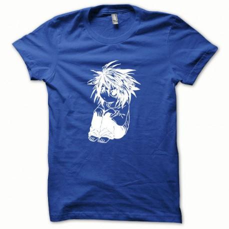 Tee shirt Parodie Death Note blanc/bleu royal