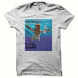 Tee shirt Nirvana Nevermind smell like teen spirit blanc