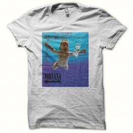 Tee shirt Nirvana Nevermind smell like teen spirit blanc