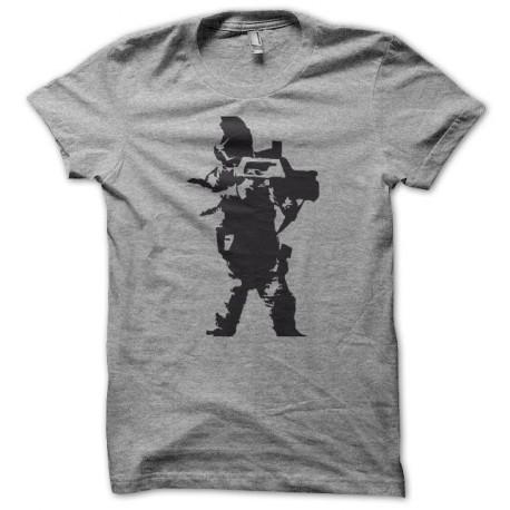 Tee shirt Alien 2 le retour Space marines noir/gris