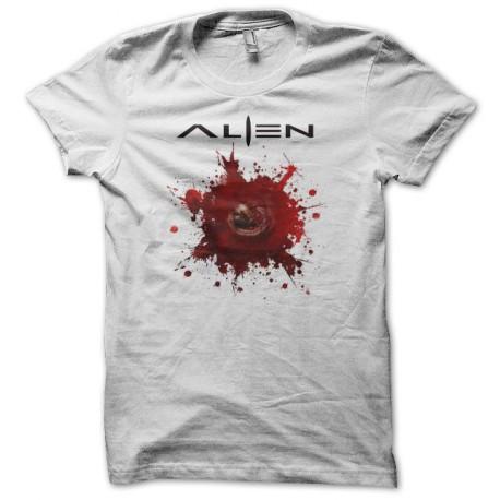 Tee shirt Alien xénomorphe chestbuster blanc