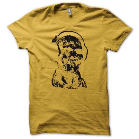 Tee shirt dj zombi jaune/noir