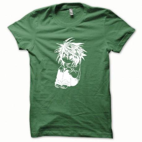 Tee shirt Parodie Death Note blanc/vert bouteille