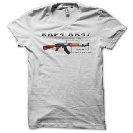 Tee shirt RAP4 AK-47 kalachnikov blanc