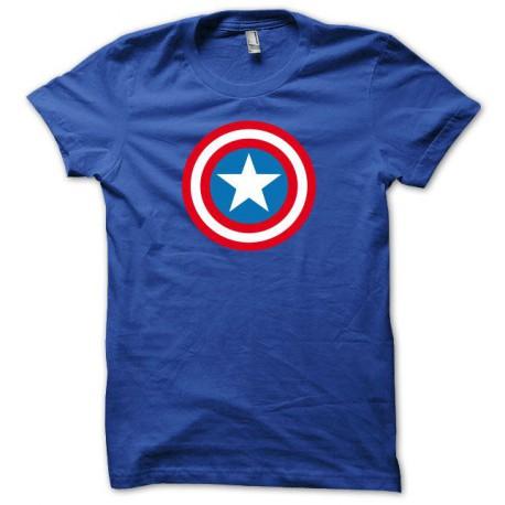 Tee shirt Capt America bleu royal