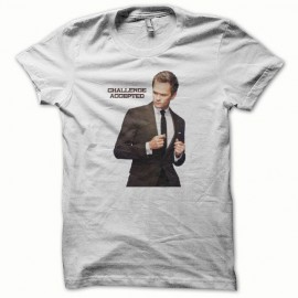 T-shirt How i met your mother challenge accepted white