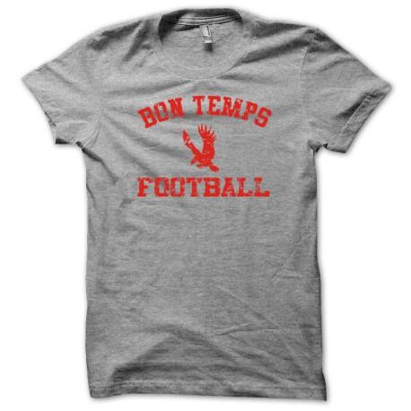 Tee shirt True blood Université bon temps football rouge/gris