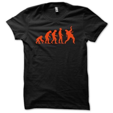 Tee shirt evolution zombi zombis noir