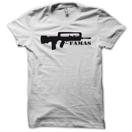 Tee shirt Famas fusil d'assaut français noir/blanc