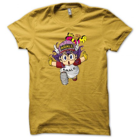Tee shirt manga Arale Dr. Slump Dr. Suranpu jaune