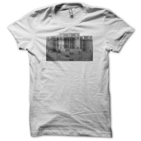 Tee shirt techno sound system tekos blanc
