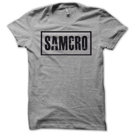 Tee shirt Sons Of Anarchy SAMCRO noir/gris