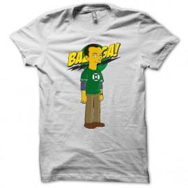 Tee shirt Sheldon cooper parodie la théorie du big bang et bazinga blanc