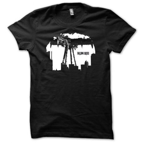 Tee shirt Falling skies blanc/noir