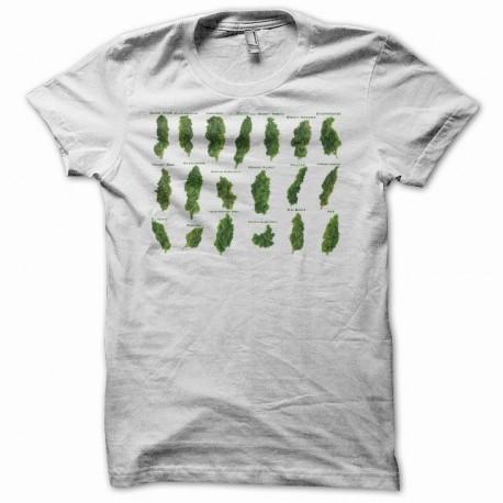 Tee shirt Marijuana Hemp vert/blanc