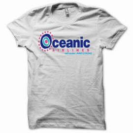 Camiseta Oceanic airlines Lost  Perdidos blanco