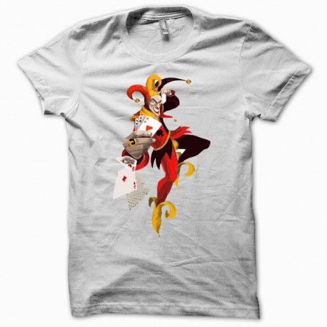 Tee shirt Poker joker blanc