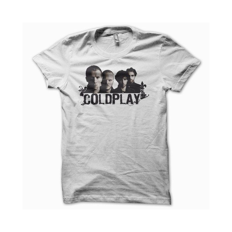 ad22770f T-shirt rock Coldplay white