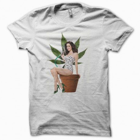 Tee shirt Weeds nancy botwin blanc