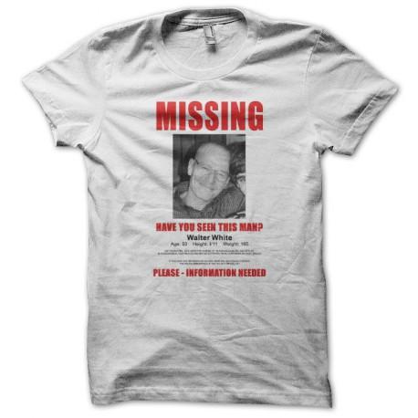 Tee shirt Breaking bad missing mister white blanc