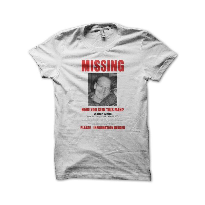 426068400 Camiseta Breaking bad missing mister white blanco