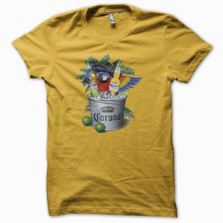 Tee shirt Corona Extra vintage jaune