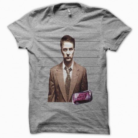 Tee shirt Fight Club Tyler Durden gris