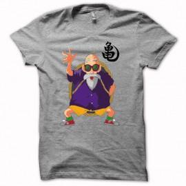Tee shirt Tortue Géniale Jackie Chun univers db gris
