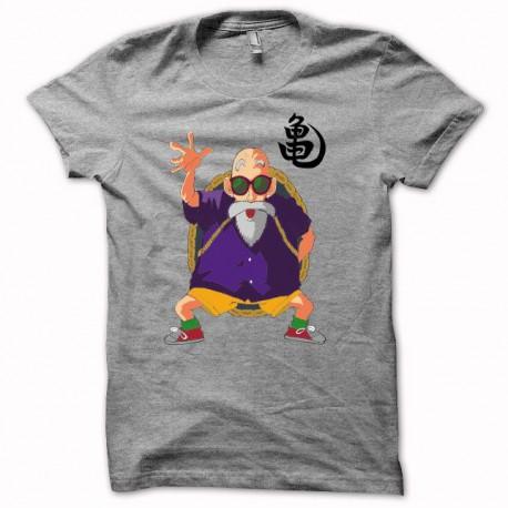 Tee shirt Tortue Géniale Jackie Chun dragon ball gris