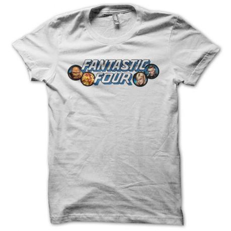 Tee shirt Les Quatre Fantastiques Les Fantastiques blanc