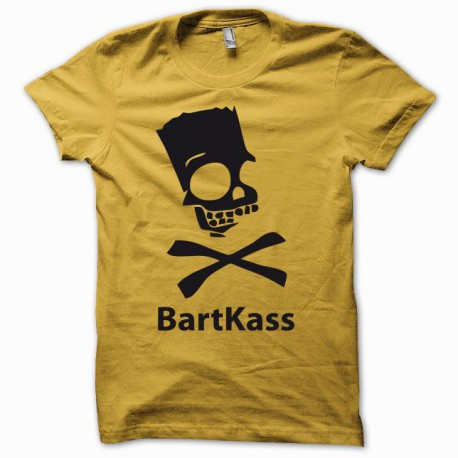 Tee shirt Parodie bart simpson jackass Bartkass jaune